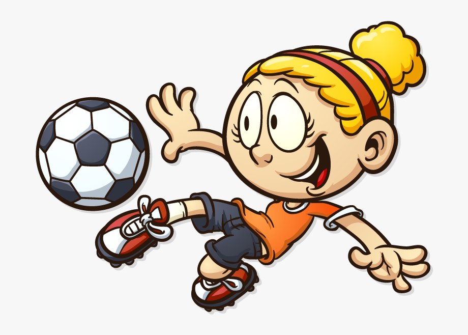 Cartoon Soccer Ball.