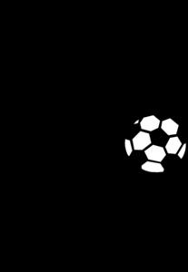 Soccer Kids Clipart Black And White.