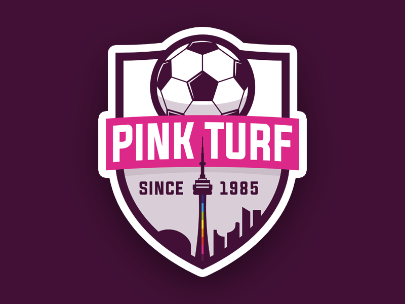 Logo design for Pink Turf Soccer League by Alice Ralph on.
