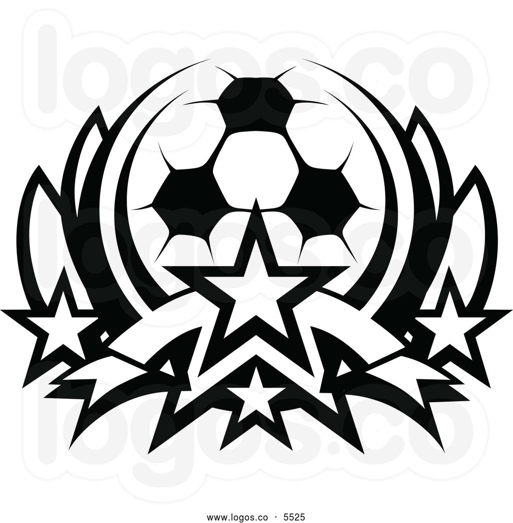Soccer Crest Template Clipart.