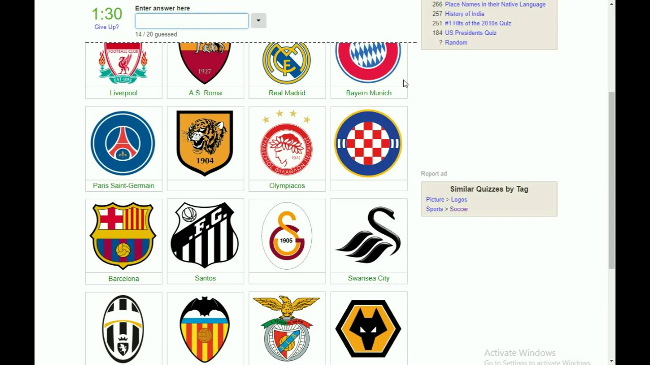 SOCCER TEAM LOGO QUIZ!!!.