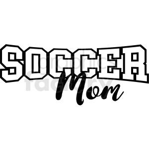 soccer mom vector clipart. Royalty.