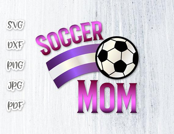 Soccer Mom Vector Clipart Silhouette SVG File for Cricut Momlife.