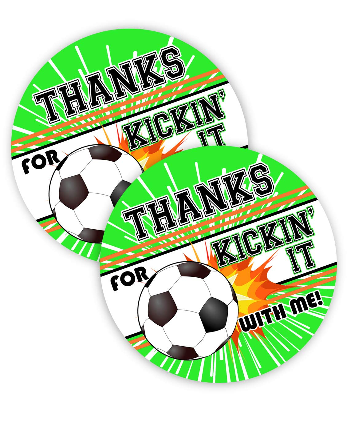 POP parties Soccer Party Favor Stickers.