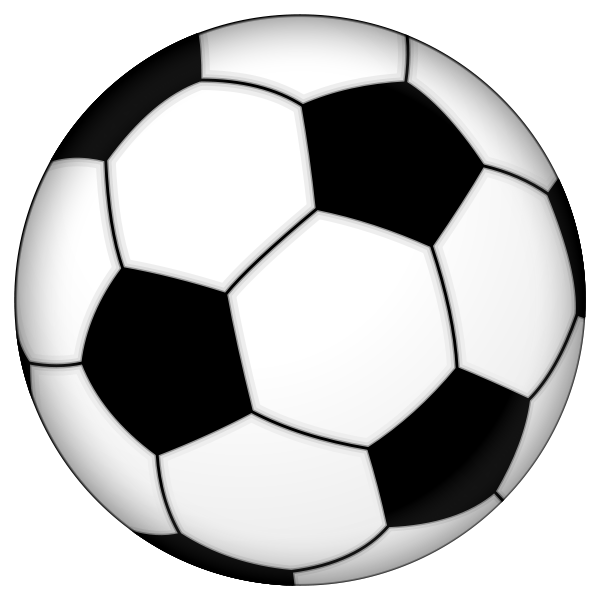 Blue soccer ball clipart free images.