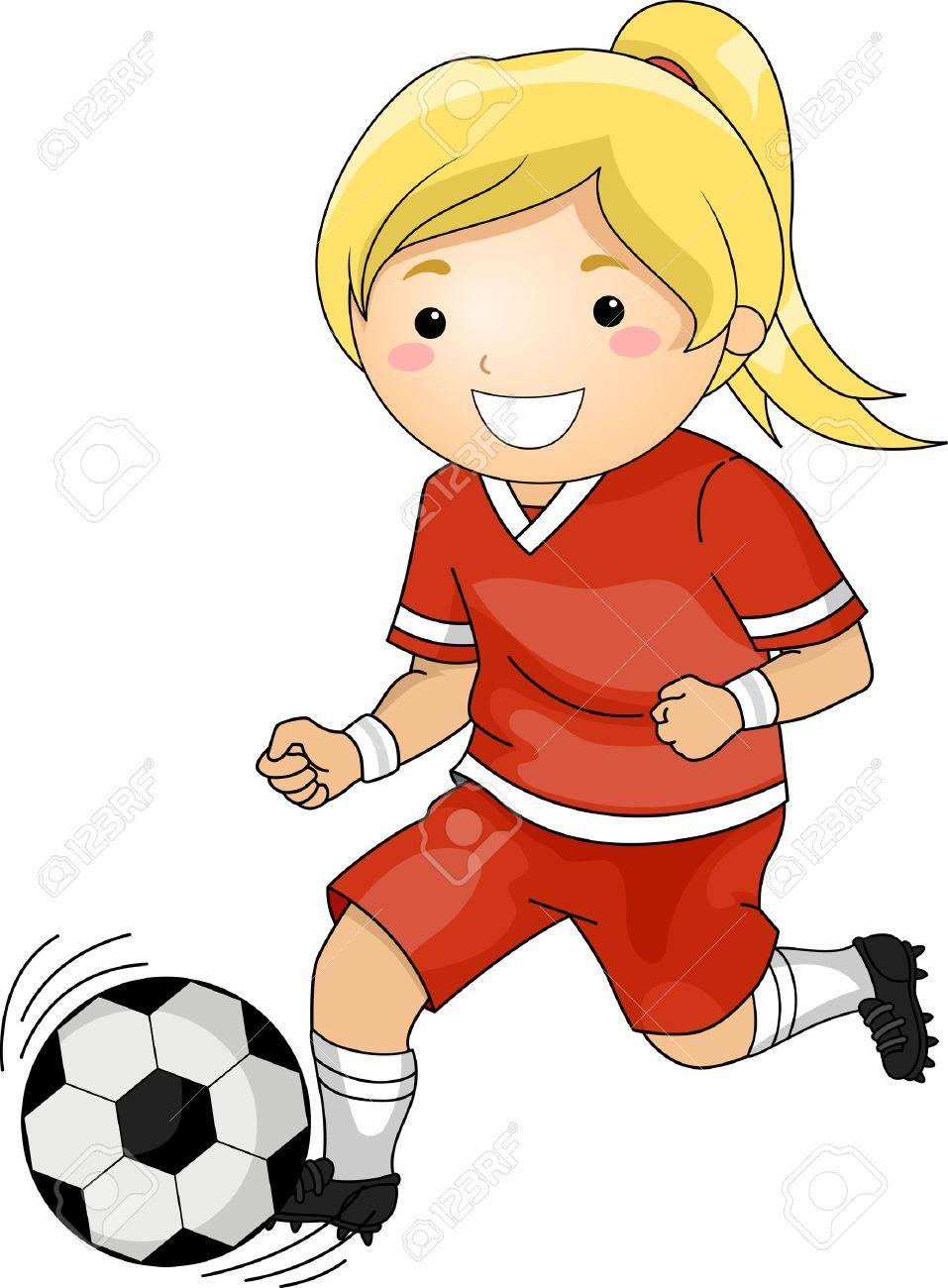 Girl soccer player clipart 5 » Clipart Portal.