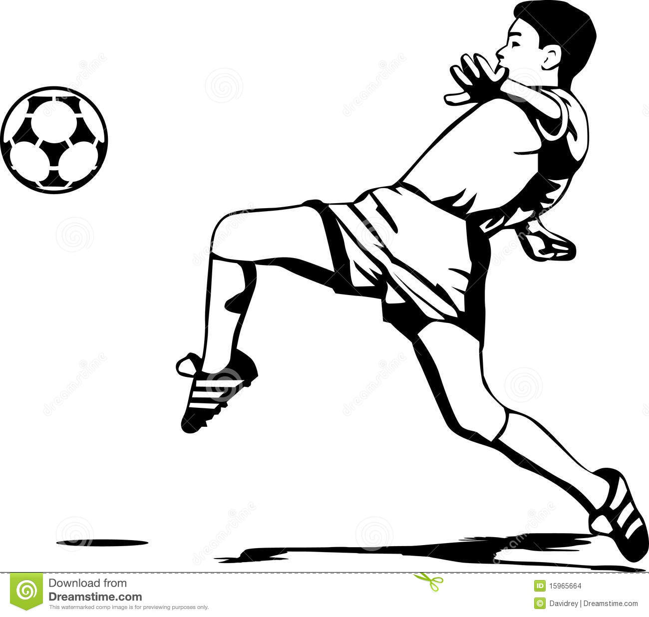 Play Soccer Clipart Black And White.