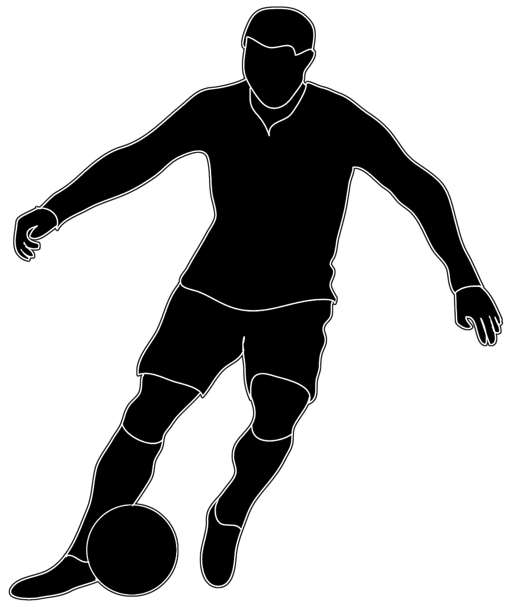 Football player American football Black and white Clip art.