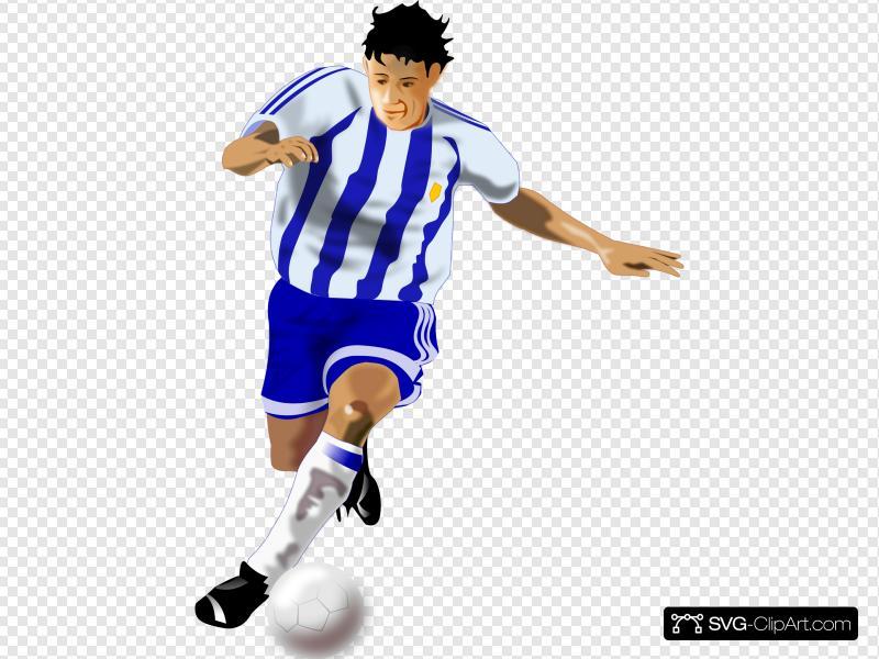 Futbolista Soccer Player Clip art, Icon and SVG.