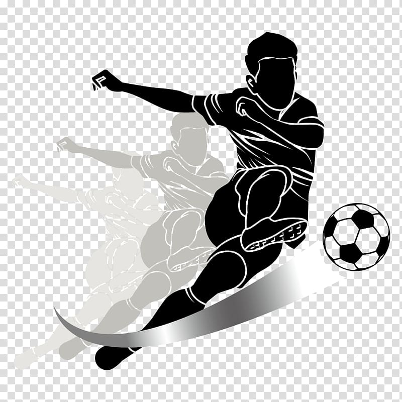 Soccer player illustration, Football player Kick Sport.