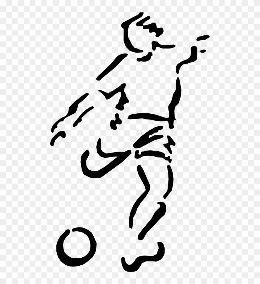 American Football Stencil Football Player Sports.