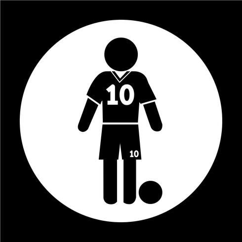 Football Soccer Player Icon.