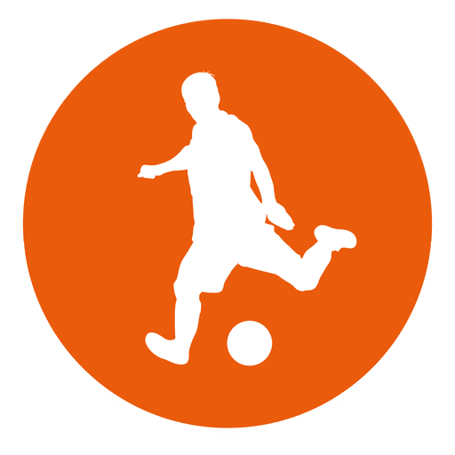 Soccer player circle icon.