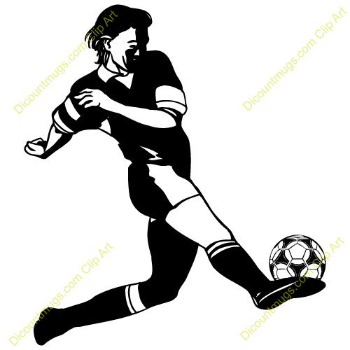 soccer player kicking ball.