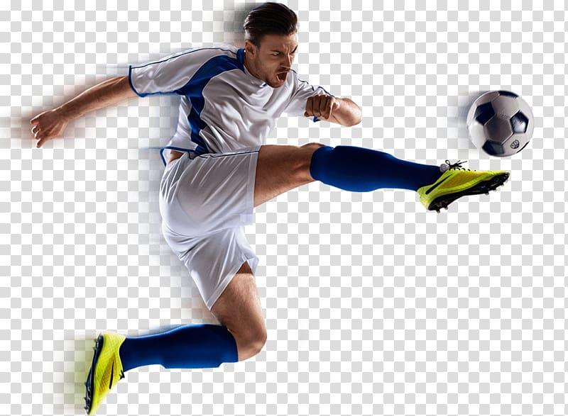 Soccer player kicking ball, Football player American.