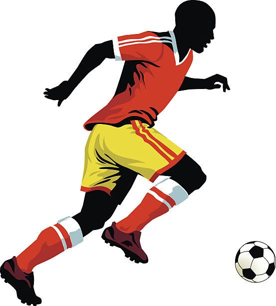 Soccer Player Running With the Ball.