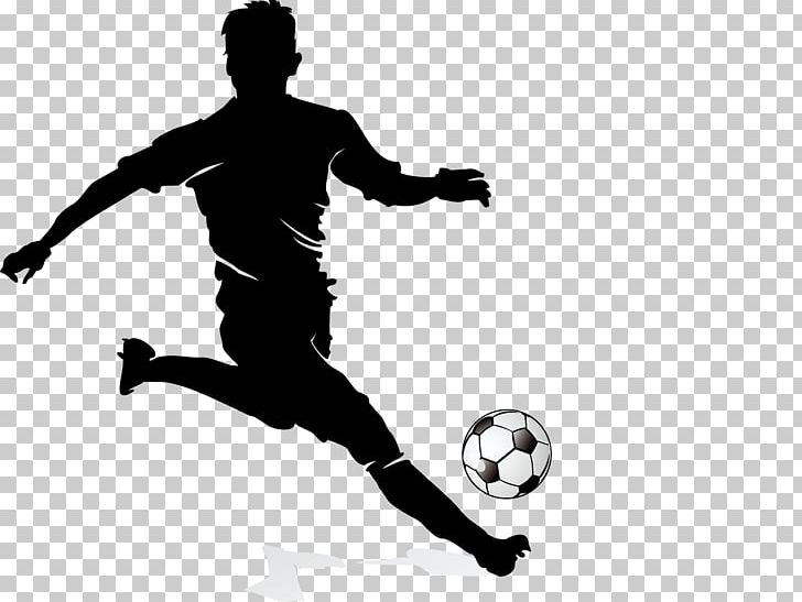 Football Player Dribbling PNG, Clipart, Ball, Black And.