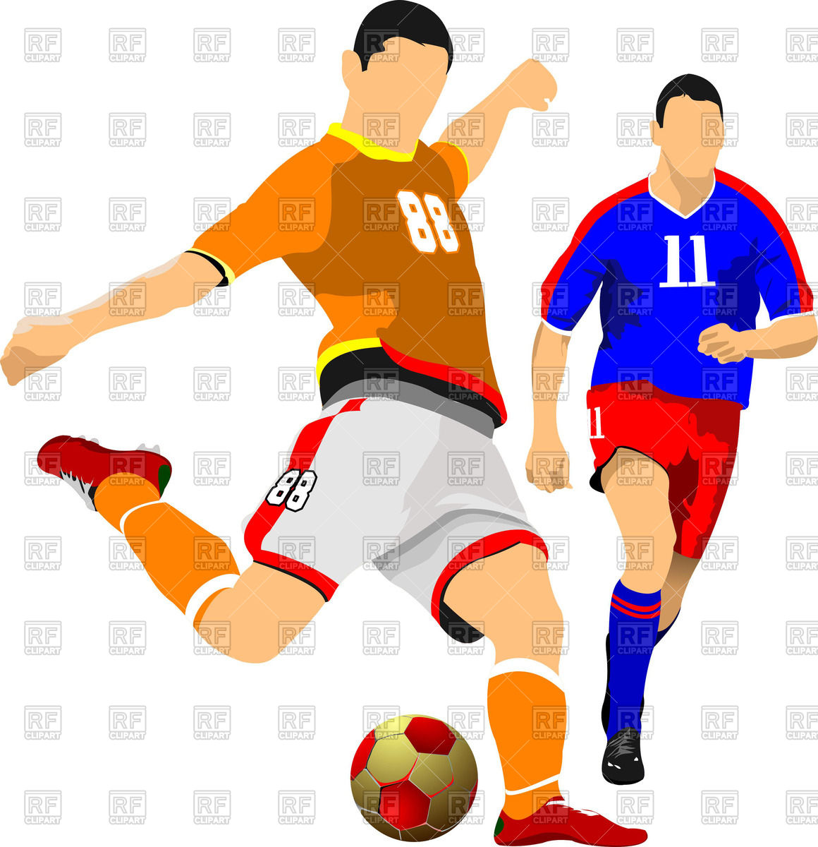 Soccer players clipart 4 » Clipart Station.