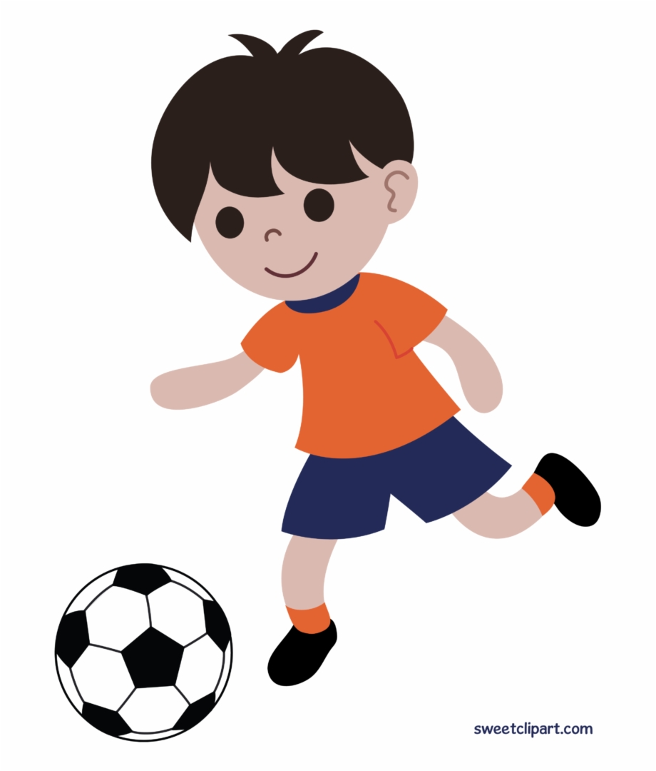 Boy Playing Soccer Futbol Clipart Clip Art.