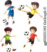 Soccer Players Clip Art.