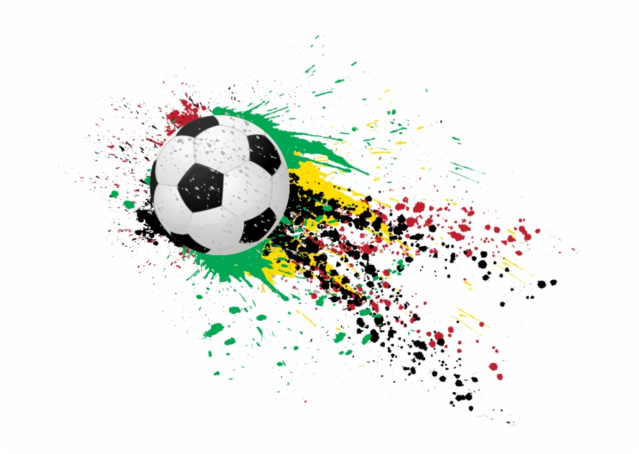 Fcaan Paint Splattered Soccer Ball.