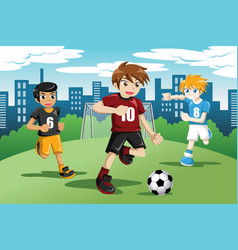 Kids Soccer Clipart Vector Images (over 100).