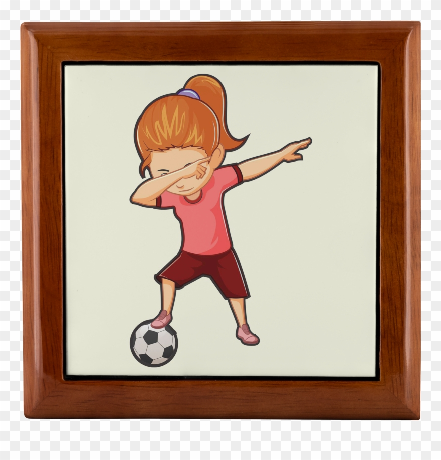 Dabbing Soccer Girl Jewelry Box, Gifts For Football.
