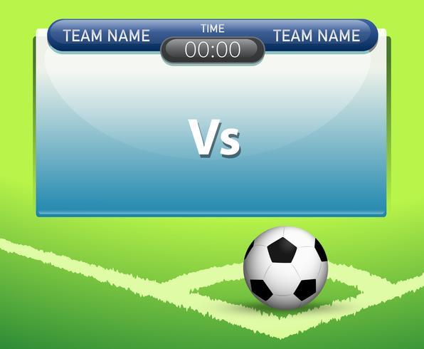 A soccer scoreboard template.