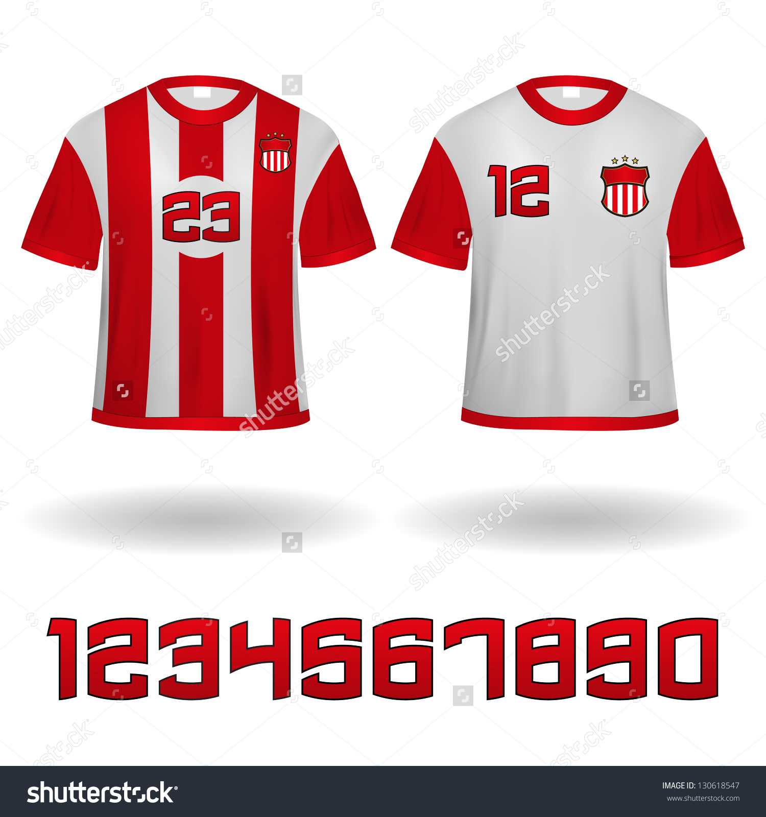 Soccer Jerseys Vector Clip Art Stock Vector 130618547.