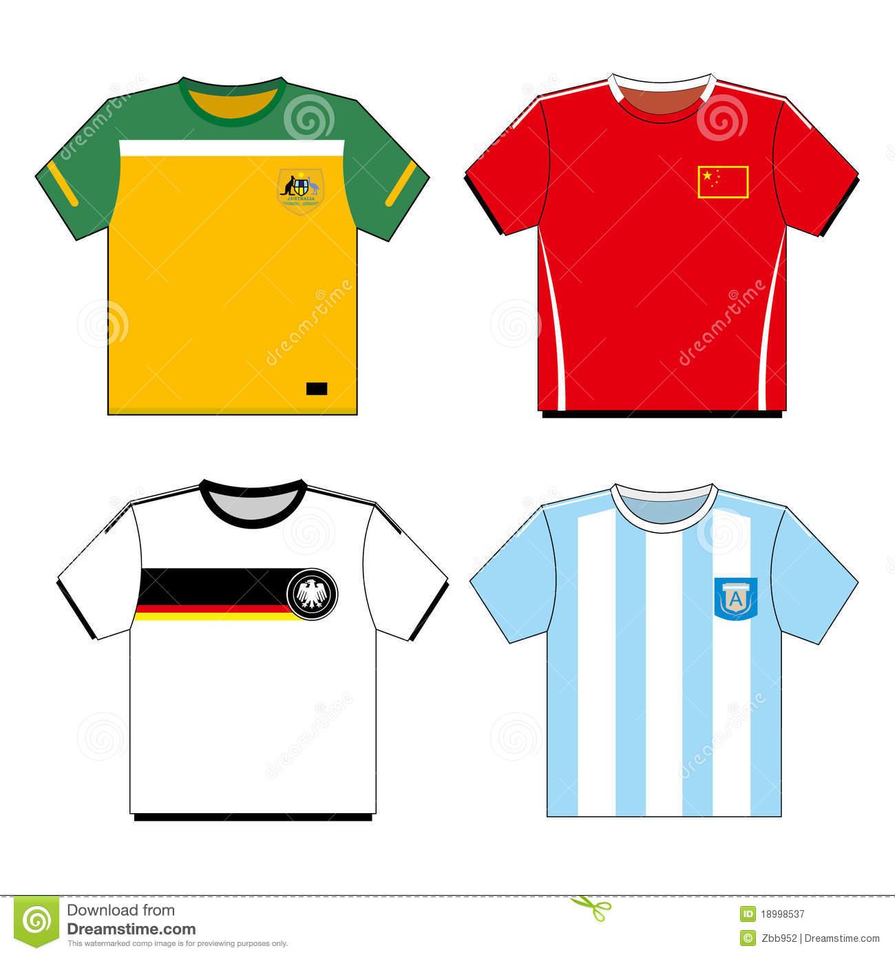soccer shirt clipart #16