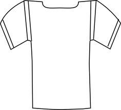 Football jersey pattern. Use the printable outline for crafts.