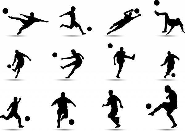 Soccer Silhouette Free vector in Adobe Illustrator ai ( .AI.