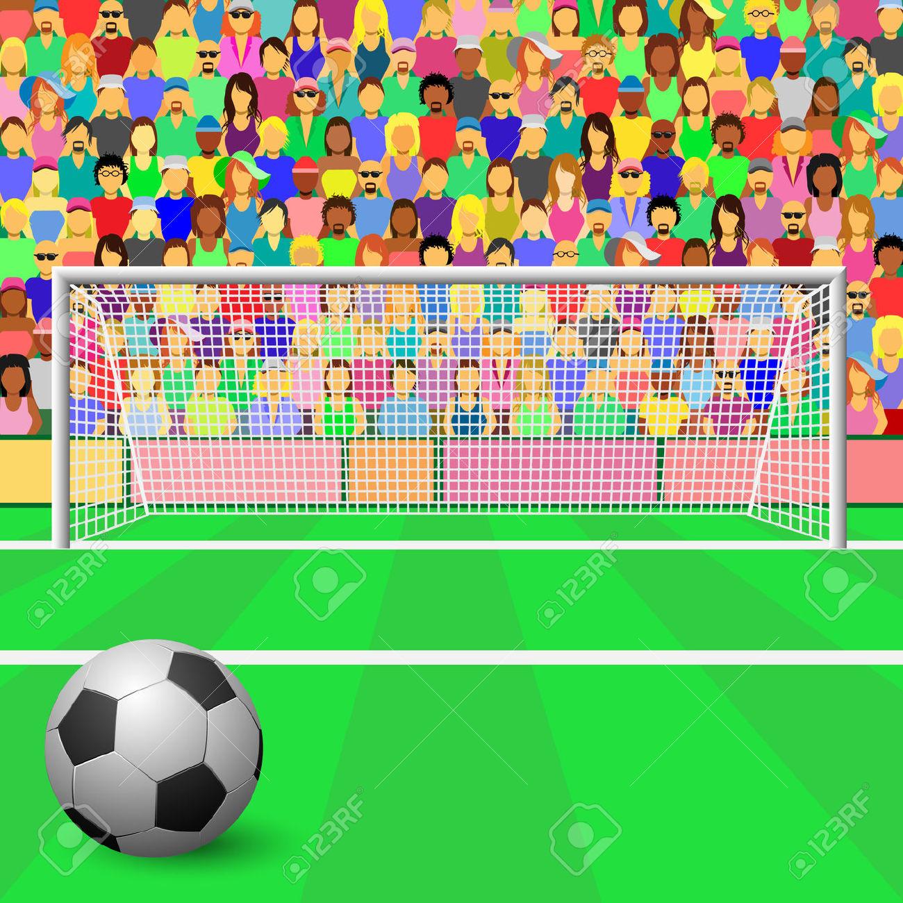 soccer stadium: A Soccer Goal.
