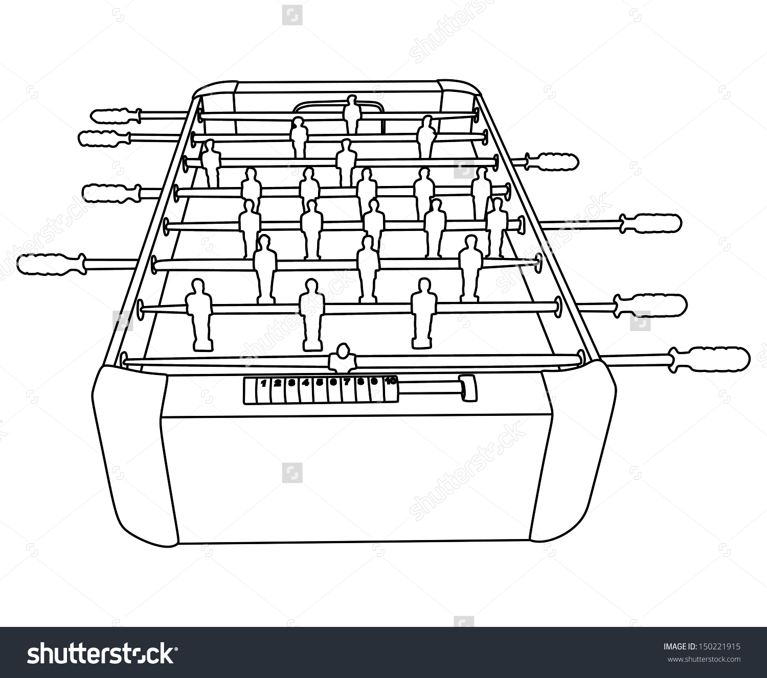 Foosball Soccer Table Game Vector Isolated Stock Vector 150221915.