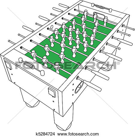 Clipart of Table Football And Soccer k5284724.