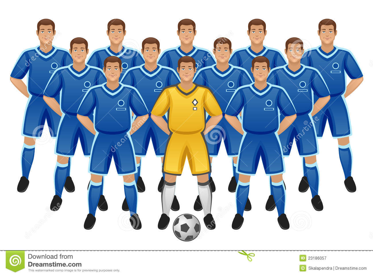 Soccer Team Royalty Free Stock Photography Image: 23186057.