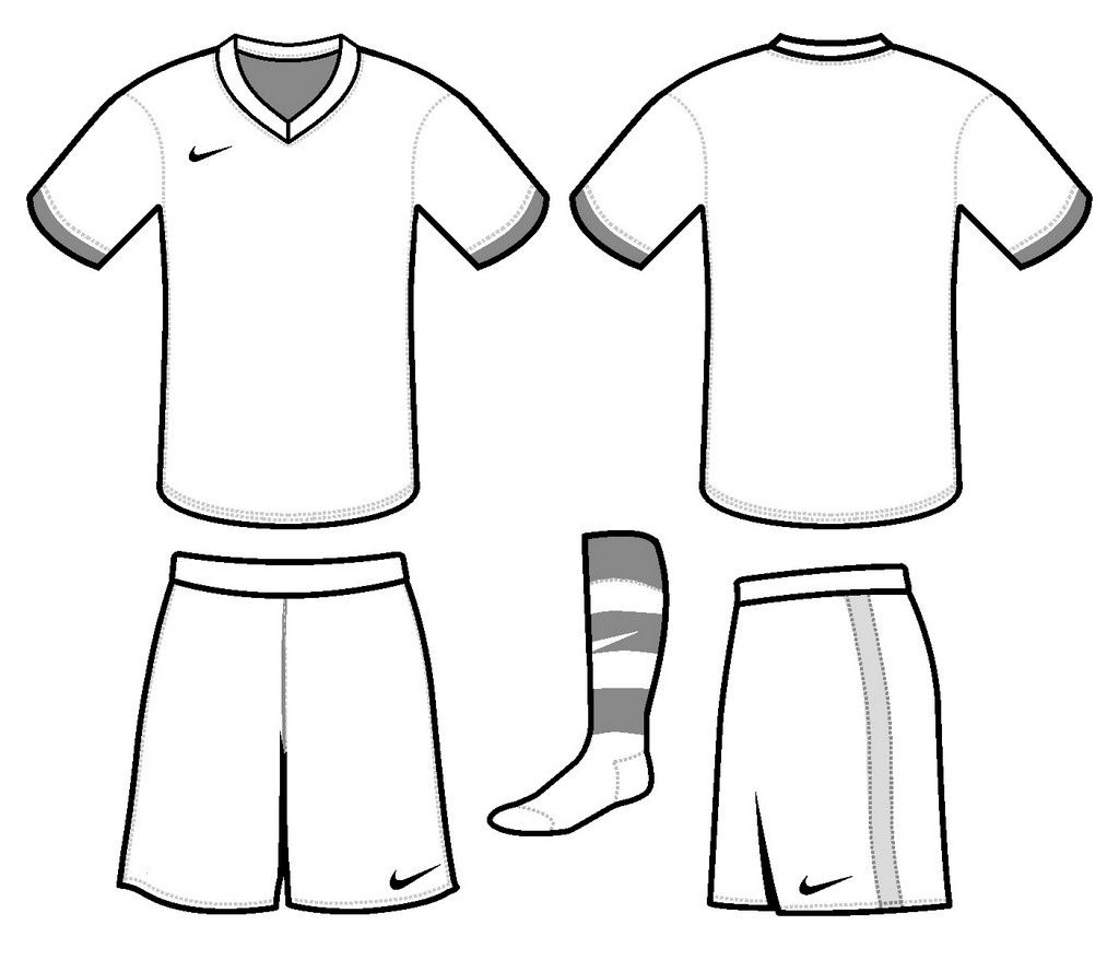Soccer Jersey Nike Coloring and Drawing Page.