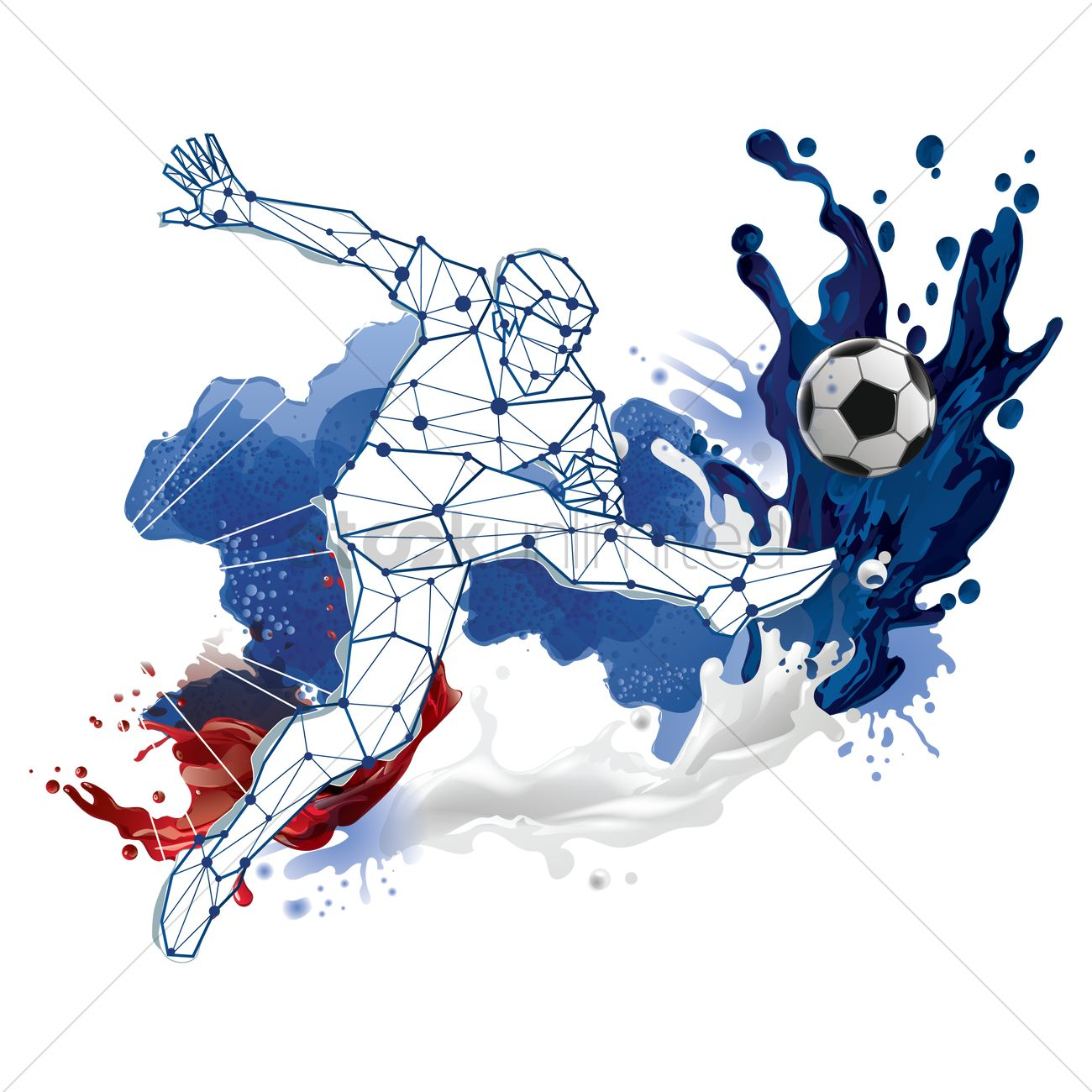 Abstract soccer player design Vector Image.