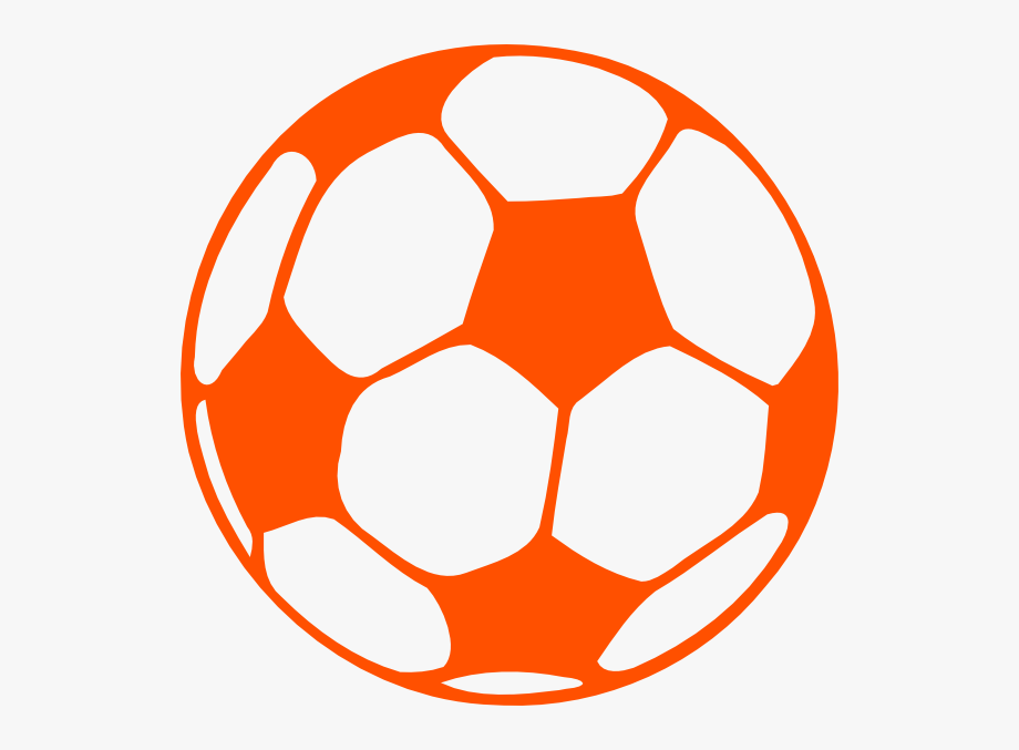 Soccer Ball Clip Art Orange.