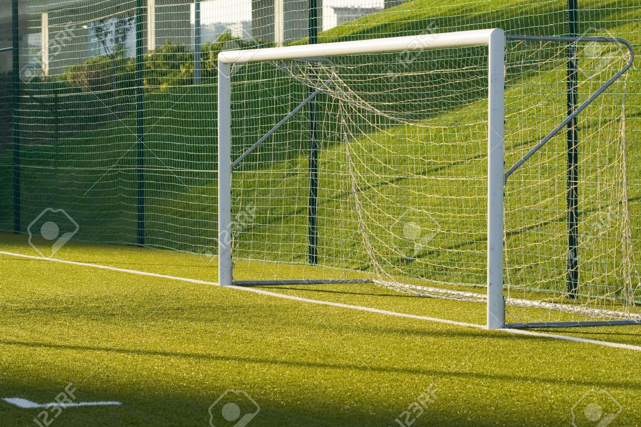 A Detail Of An Empty Soccer Net Stock Photo, Picture And Royalty.