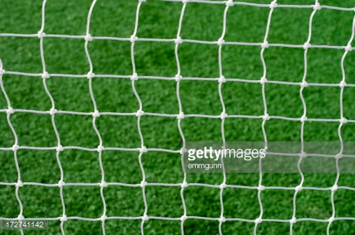 Soccer Net Stock Photo.
