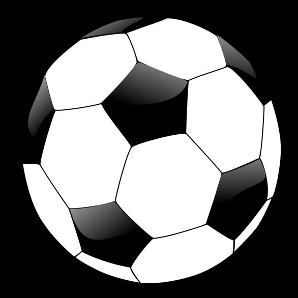 Soccer Ball Clip Art Outline White.