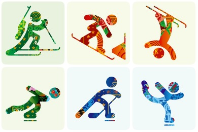 Sochi 2014 Color Iconset (7 icons).