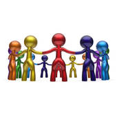 Clip Art of Family social people join community together k17540492.