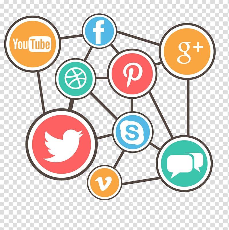 Social media Euclidean Social network Computer network Icon.