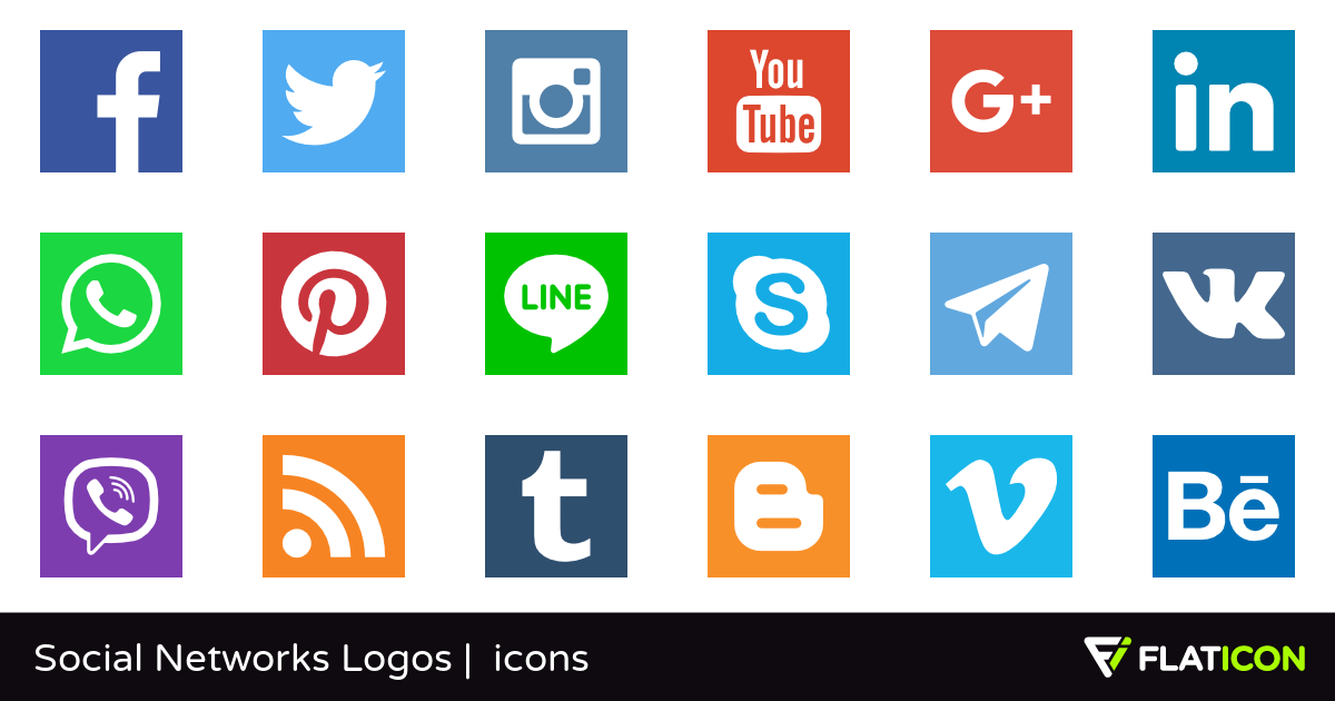 Social Networks Logos 29 free icons (SVG, EPS, PSD, PNG files).
