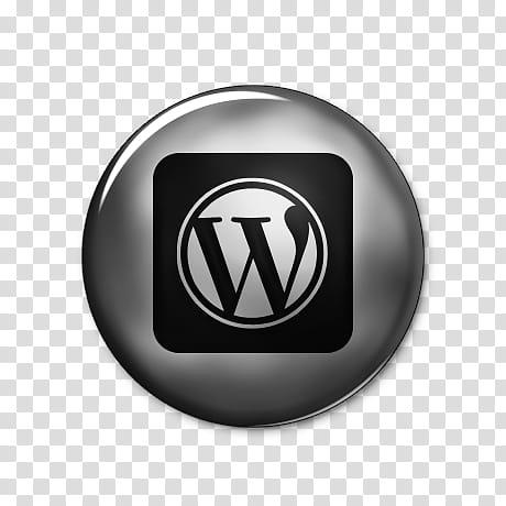 Silver Button Social Media, wordpress logo square.