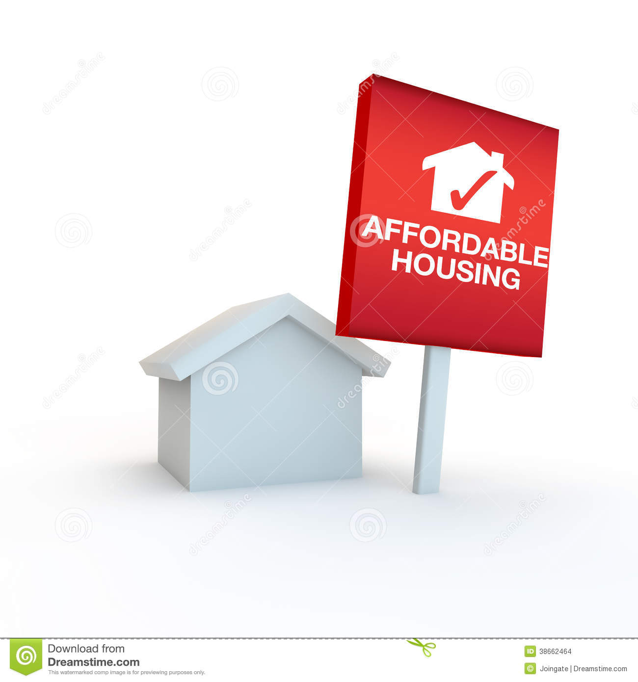 Affordable housing clipart.