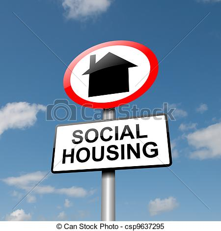 Stock Illustrations of Social housing concept..