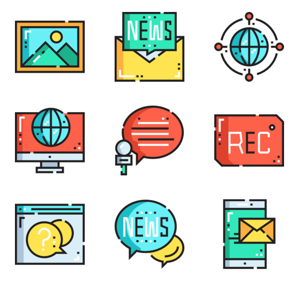 3 social media and computer icon packs.